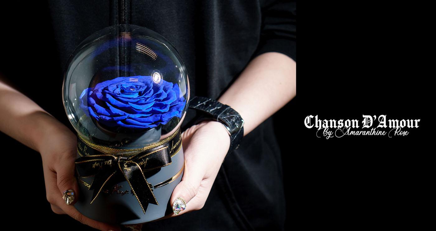 Rose in a Glass Globe by Amaranthine Rose