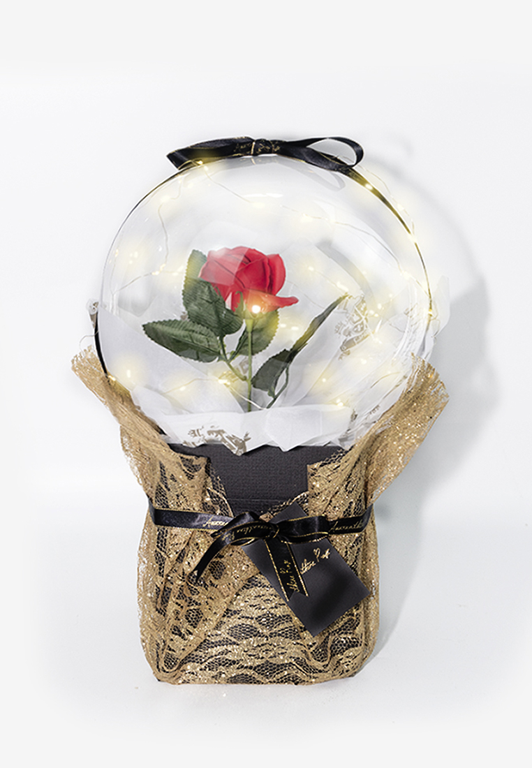 Large Rose in a Balloon Bouquet Delivery Kuala Lumpur